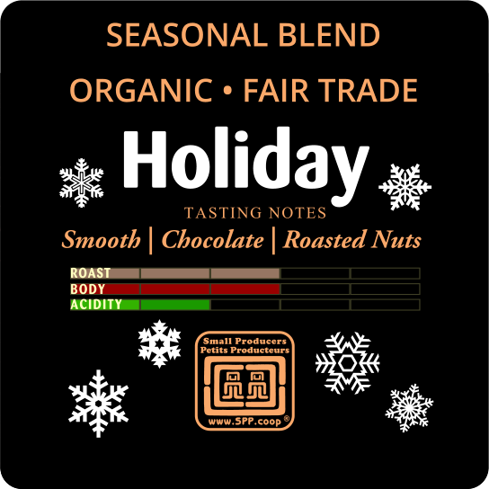 Just Us! Holiday coffee (organic, fair trade) on the Rosette Network online store